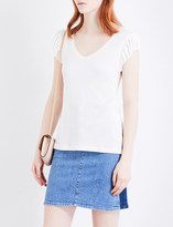 Claudie Pierlot Tapas pleated-sleeve T-shirt
