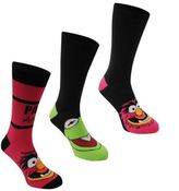 Disney Muppets Mens 3 Pack Crew Socks Elasticated Cotton Branded With Graphic Accessory