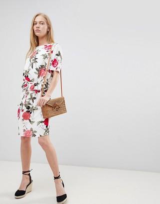 B.young Floral Waist Detail Dress