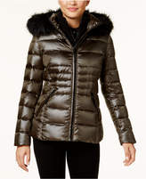 Calvin Klein Faux-Fur-Trim Down Puffer Coat