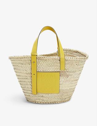 Loewe Woven raffia basket bag