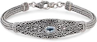 Samuel B. Fine Jewelry Silver Blue Topaz Bracelet