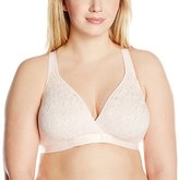 Leading Lady Women's Plus-Size Crossover Front Racer Back Leisure Bra