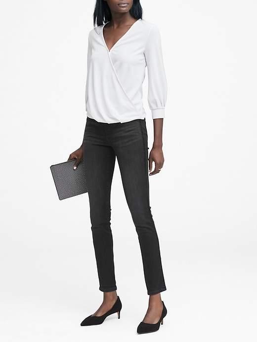 Skinny Ankle Jean with Velvet Side-Stripe