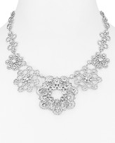 """Kate Spade Faceted Medallion Statement Necklace, 17"""""""