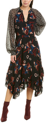 Joie Morley Silk Midi Dress
