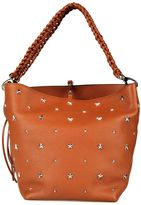 RED Valentino Star-embellished Leather Shopping Bag