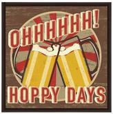 PTM Images Hoppy Days Inverse Framed Giclee Art - 13x13