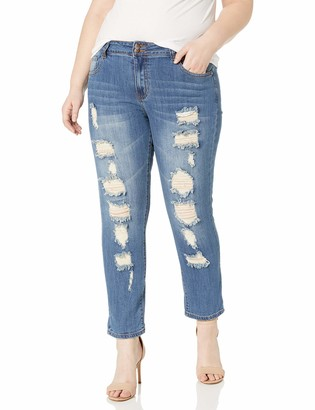 Cover Girl Skinny Ripped Jeans for Women Distressed