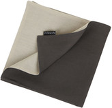 Chilewich Double Linen Napkin - Natural/Smoke