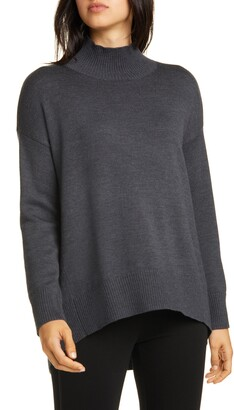 Eileen Fisher Mock Neck Oversize Sweater