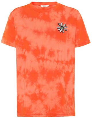 Ganni Verbena tie-dyed cotton T-shirt