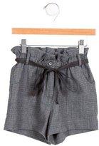 Bonpoint Girls' Wool Checkered Shorts