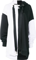 Marques Almeida Asymmetric Cotton Hoodie With Panels