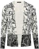 M&Co Paisley contrast border cardigan