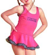 Perfashion Girl's Kids H Back One Piece Swimwear Dress 4 Years
