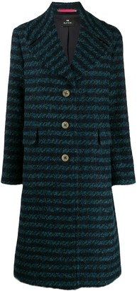 Paul Smith straight fit striped coat