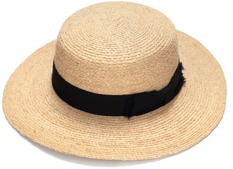 Justine Hats Womens Classic Boater Straw Hat