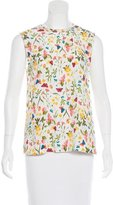Equipment Floral Printed Sleeveless Blouse