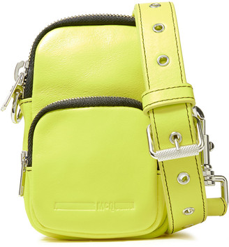 McQ Neon Leather Shoulder Bag