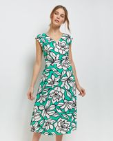 Jaeger Floral Fit-and-Flare Dress