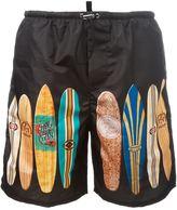 DSQUARED2 surfboard print swim shorts