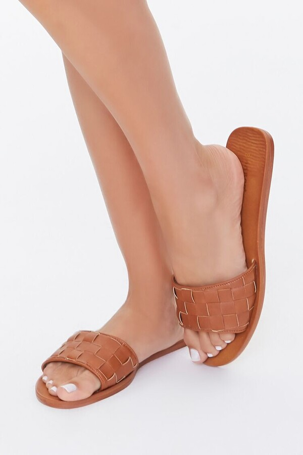 Thumbnail for your product : Forever 21 Basketwoven Slip-On Flat Sandals