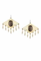House Of Harlow Smoky Diamond Tassel Earrings in Smoky Gold