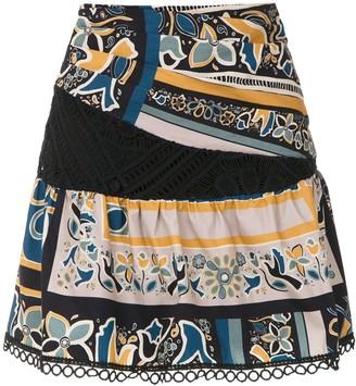 MONICA Sta. printed skirt