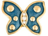 De Vroomen 18K Enamel & Diamond Butterfly Brooch