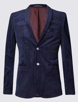 Marks and Spencer Modern Slim 2 Button Velvet Jacket