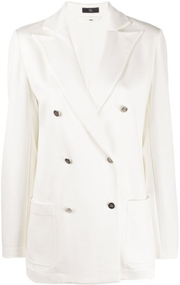 Fay Boxy Fit Double Breasted Blazer