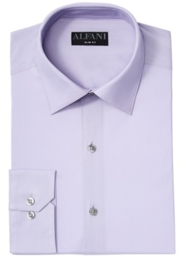 Alfani Men's Slim-Fit Performance Stretch Solid Dress Shirt, Created for Macy's