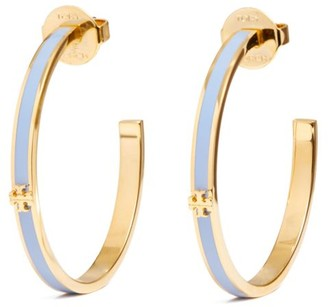 Tory Burch Kira Enameled Hoop Earring