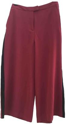 Michael Kors Burgundy Polyester Trousers