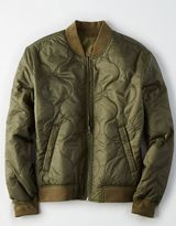 American Eagle Outfitters AE Reversible Quilted Bomber Jacket