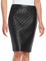 Faux leather pencil skirt shopstyle for Define faux leather