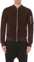 Rick Owens zipped leather bomber jacket
