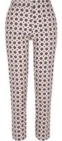 River Island Womens Pink geo cigarette pants