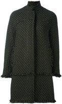 Gianluca Capannolo frayed zipped coat