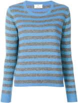 Allude striped glitter sweater