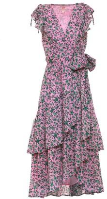 Banjanan Carra Floral Ruffle Wrap Dress