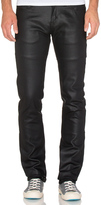 Naked & Famous Denim Skinny Guy Wax Coated Black Stretch 11 oz.