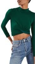Topshop Women's Twist Front Crop Top