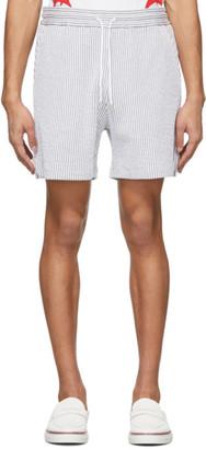 Thom Browne Grey Stripe Seersucker Shorts