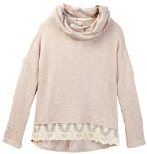 Ten Sixty Sherman Cowl Neck Lace Hem Sweater (Big Girls)