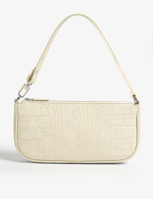 BY FAR Rachel croc-embossed leather shoulder bag