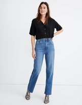 Madewell Tab-Waist High-Rise Straight Jeans in Delafield Wash