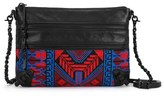 Elliott Lucca 'Messina' 3 Zip Crossbody Clutch - Black