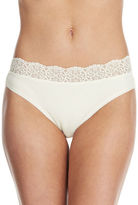 Lord & Taylor Hi-Cut Brief With Lace Trim